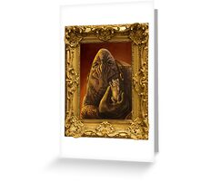 Elcor Portrait with Kitten Greeting Card