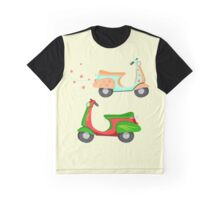 Retro Vintage Scooters Graphic T-Shirt