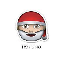 Santa Emoji 'ho ho ho' - CHRISTMAS by Rad Merch