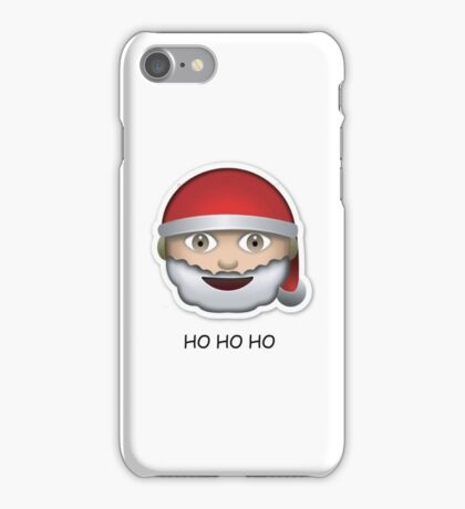 Santa Emoji 'ho ho ho' - CHRISTMAS iPhone Case/Skin