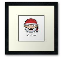 Santa Emoji 'ho ho ho' - CHRISTMAS Framed Print