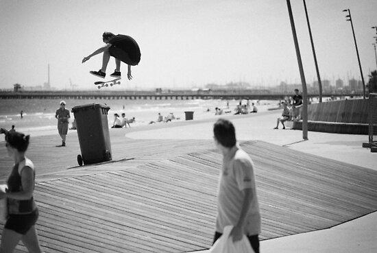 Barry mansfield, fs kickflip. by Luke Carl Thompson