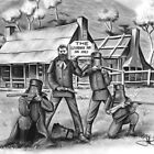 Kelly Gang drawing by John Harding
