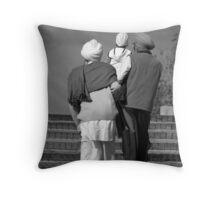 Three Generations. Throw Pillow