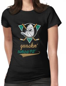 Mighty Ducks  Womens Fitted T-Shirt