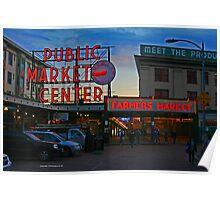 Pike`s Public Market Poster