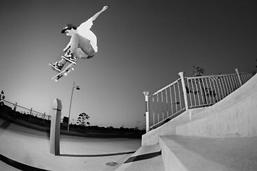 Nick Boserio, kickflip. by Luke Carl Thompson