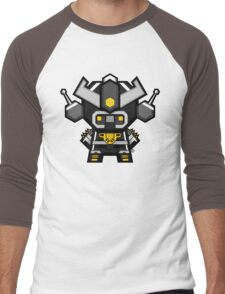 Mekkachibi Black Mekanda Men's Baseball ¾ T-Shirt