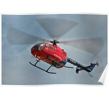 MBB BO-105 Air Ambulance  Poster