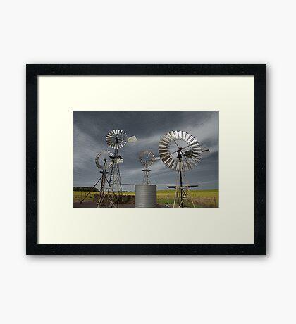 Rural Windmills Framed Print