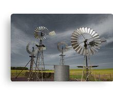 Rural Windmills Canvas Print