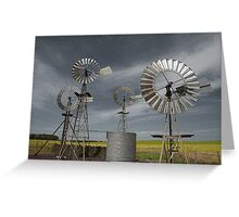 Rural Windmills Greeting Card