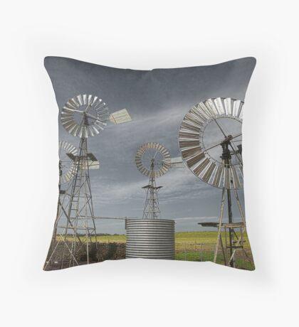 Rural Windmills Throw Pillow