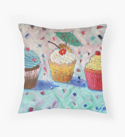 Cupcakes x 3 Throw Pillow