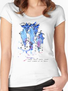 Three Billy Goats Gruff (ain't scared of no troll!) Women's Fitted Scoop T-Shirt