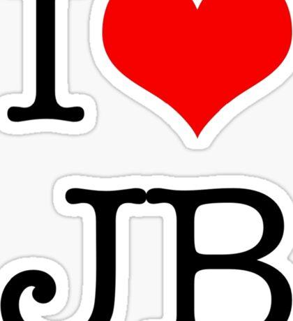 I Love JB Sticker