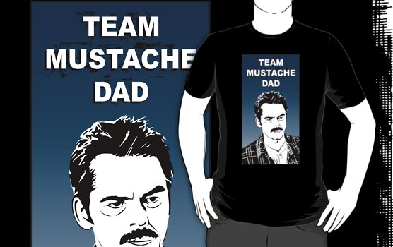 Team Mustache Dad by tastypaper