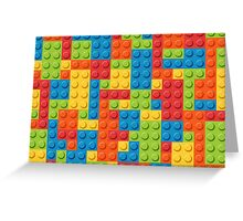 Colourful Lego Bricks  Greeting Card