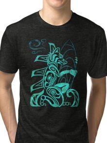 FurBQ T-Shirt - Blue Solo Tri-blend T-Shirt