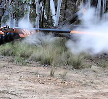 Muzzle Loading Fun - Hill Ends NSW Australia by Bev Woodman