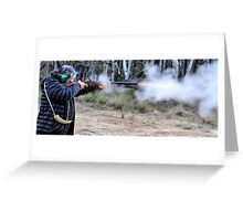 Muzzle Loading Fun - Hill Ends NSW Australia Greeting Card