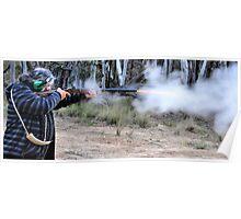 Muzzle Loading Fun - Hill Ends NSW Australia Poster