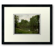 Elbow River Framed Print