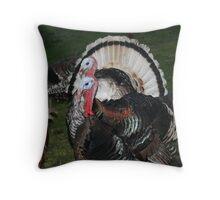 Turkeys! Throw Pillow