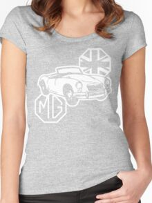 MG MGA Classic British Sports Car Women's Fitted Scoop T-Shirt
