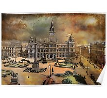 George Square -Glasgow 1900 y Poster
