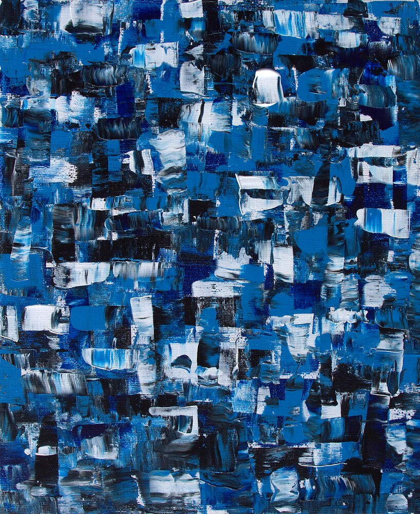 Blue Blade Abstract by Sandy Edgar