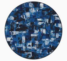 Blue Blade Abstract Kids Tee