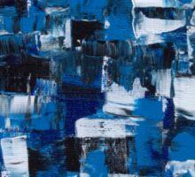 Blue Blade Abstract Sticker