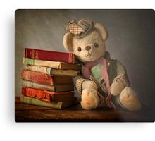 Teddy with Books Metal Print
