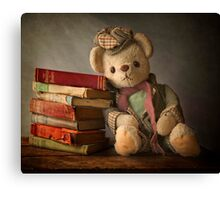 Teddy with Books Canvas Print