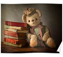 Teddy with Books Poster