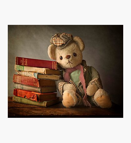 Teddy with Books Photographic Print