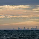Melbourne From Portarlington - Bellarine Peninsula by Colin  Ewington