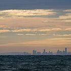 Melbourne From Portarlington - Bellarine Peninsula by Colin  Ewington