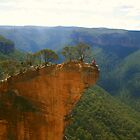 Daredevils on Hanging Rock, Blackheath. by Michael Matthews