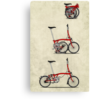I Love My Folding Brompton Bike Canvas Print