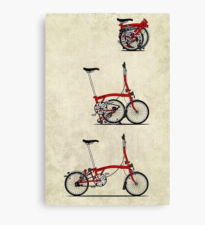 I Love My Folding Brompton Bike Canvas Print