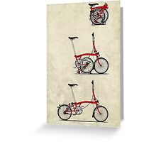 I Love My Folding Brompton Bike Greeting Card