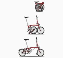 I Love My Folding Brompton Bike One Piece - Long Sleeve