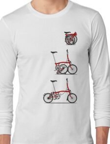 I Love My Folding Brompton Bike Long Sleeve T-Shirt