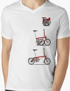 I Love My Folding Brompton Bike Mens V-Neck T-Shirt