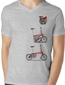 I Love My Folding Brompton Bike Mens V-Neck T-Shirt