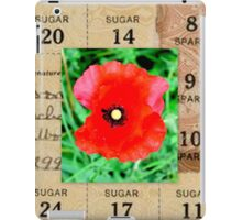 War Memorabilia - Poppy and Sugar Rationing iPad Case/Skin