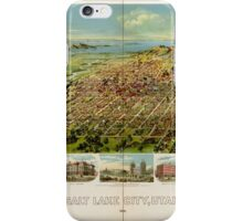 Panoramic Maps Salt Lake City Utah 1891 iPhone Case/Skin