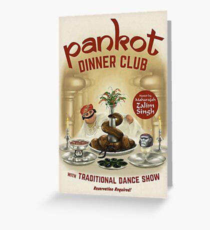 Pankot Dinner Club Greeting Card